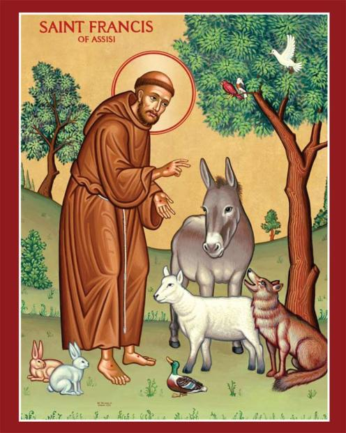 St Francis Blessing Animals